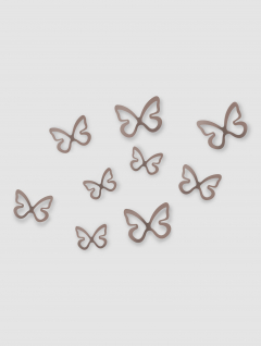 Mariposas Decorativas Flitterbye Plata Set x 9