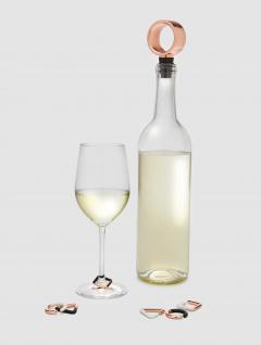 Set de Vino Tapón y Marcacopas Geo