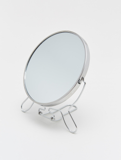 Espejo Maquillaje Redondo Metálico x5