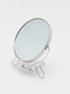 Espejo Maquillaje Redondo Metálico x2