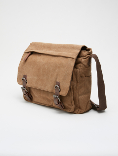 Bolso Morral Canvas Marrón