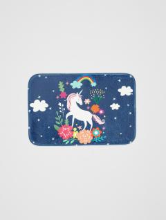 Alfombra Baño Unicornio Azul