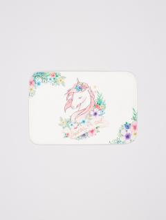 Alfombra Baño Unicornio Blanco
