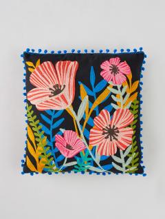 Funda Almohadón Flower Black Garden