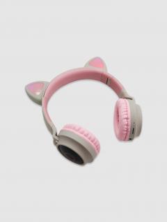 Auriculares Bluetooth Orejas Gato Rosa