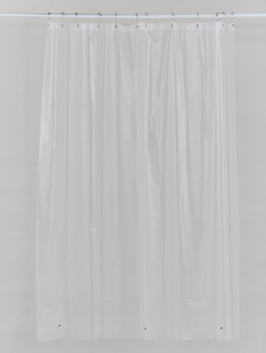 Protector Cortina Baño Semi Transparente Imán