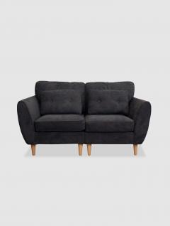 Sofá Luxury Gris Oscuro 2 Cuerpos