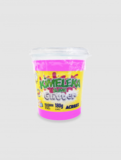 Slime Kimeleka con Glitter Rosa