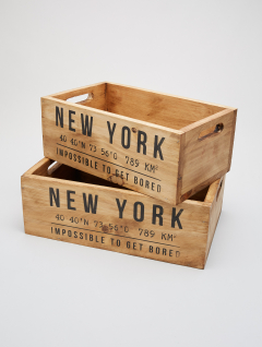 Set Cajas New York x2