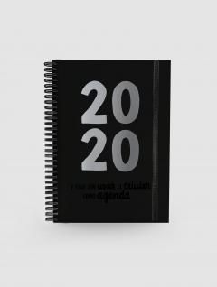 Agenda Black A5