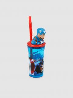 Vaso Capitán América Con Sorbete