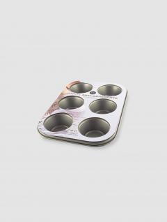 Fuente Muffins Dorado x6 Antiadherente