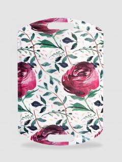 Bandeja Flowers Grande Con Asa 45x30cm