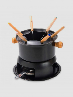 Fondue Negra 11 piezas antiadherente
