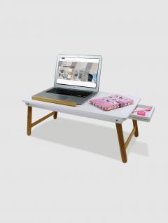Escritorio Porta Laptop para  Cama y Sillón  Blanca