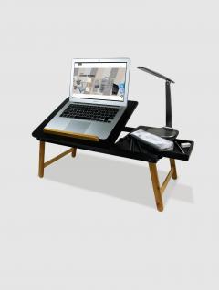 Escritorio  Porta Laptop  para Cama y Sillón Negra