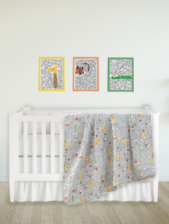 Quilt Cuna Estampado Jungle