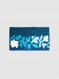 Alfombra Azul Hojas