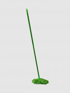 Trapeador Piso Extensible Circular Verde