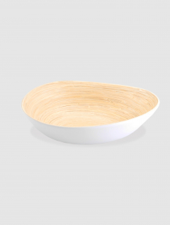 Bowl Blanco Ovalado Fibra