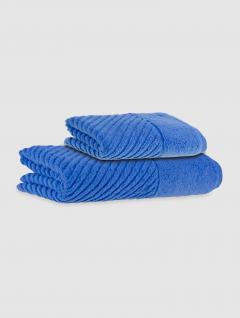 Set Toalla Y Toallón Espalma Plume Air Azul