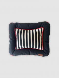 Cama Mascotas Negra Stripes 60x50