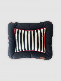 Cama Mascotas Negra Stripes 75x55