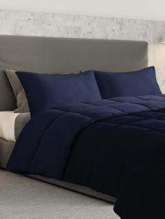 Acolchado Queen Azul Noche Con Fundas Soft