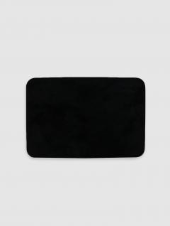 Alfombra Baño Negro Felpa