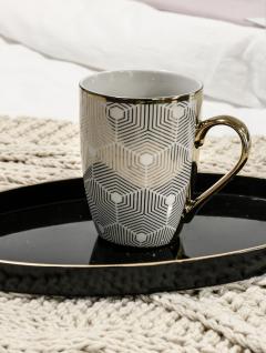 Mug White Gold 330ml