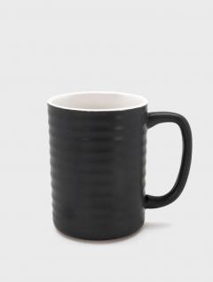 Mug Anillos Satin Negro 380ml