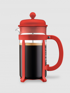 Cafetera Java  marca  Bodum Roja 1000ml