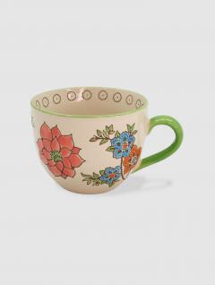 Mug Flowers Porcelana 400ml