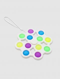Juguete Pop It Jumbo Spinner Blanco 16 cm