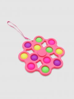 Juguete Pop It Jumbo Spinner Rosa 16 cm