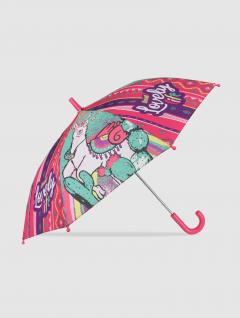 Paraguas Llama Infantil Rosa y Verde
