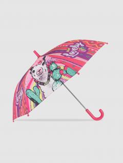 Paraguas Llama Infantil Rosa y Violeta