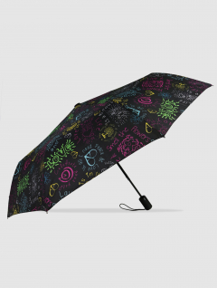 Paraguas Picture Negro Corazón