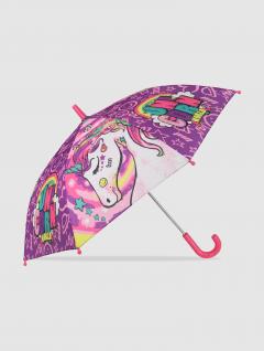 Paraguas Unicornio Infantil Violeta
