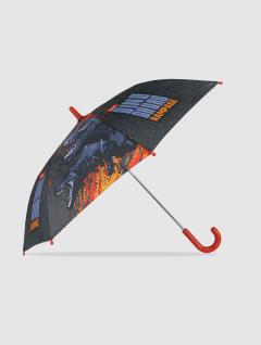 Paraguas Dino Infantil Gris