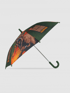 Paraguas Dino Infantil Marrón