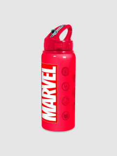 Botella Marvel p/Colgar c/Tapa y Sorbete