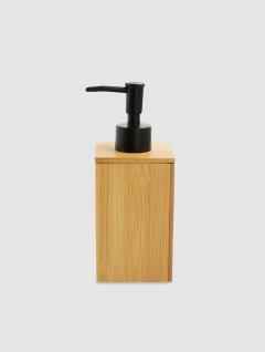 Dispenser Jabón Líquido Cuadrado Bamboo