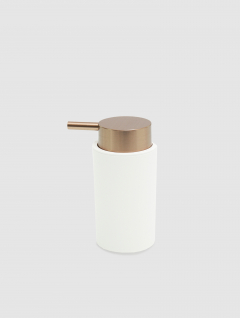 Dispenser Jabón Líquido Blanco/Cobre Premium 14x7cm
