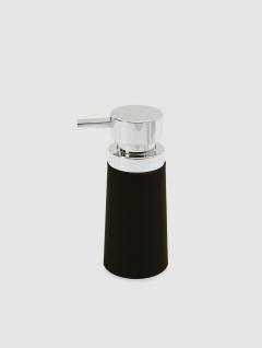 Dispenser Jabón Líquido Negro Big Premium 18x8cm