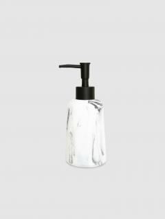 Dispenser Jabón Líquido Carrara Bco Cilindro 17x7cm