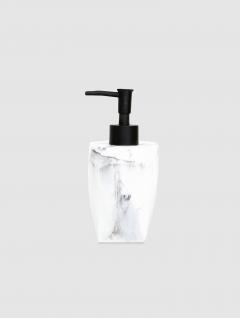 Dispenser Jabón Líquido Carrara Bco Base Cuadrada 17x8cm