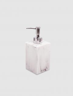 Dispenser Jabón Líquido Carrara Bco Quadri 17,5x7cm
