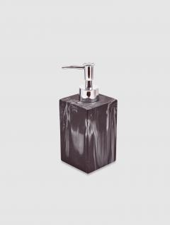 Dispenser Jabón Líquido Carrara Negro Quadri 17,5x7cm
