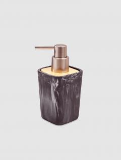 Dispenser Jabón Líquido Carrara/Wood Negro Quadri 15x7cm